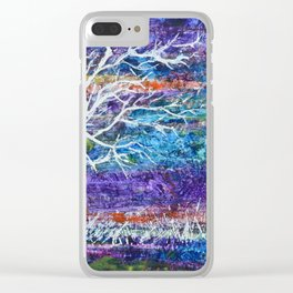 Abstract Tree Landscape Clear iPhone Case
