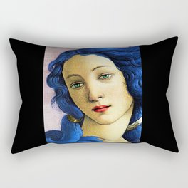 Venus In Blue Rectangular Pillow