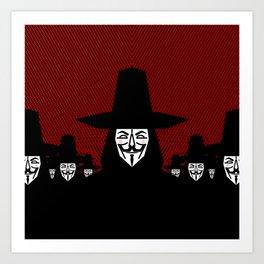 Million Mask March Art Print