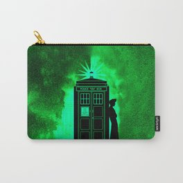 Tardis In Light Green Shadow Carry-All Pouch