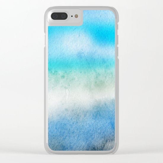 Tropical sea #7 Clear iPhone Case
