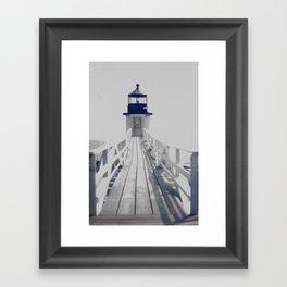 Maine Lighthouse Framed Art Print