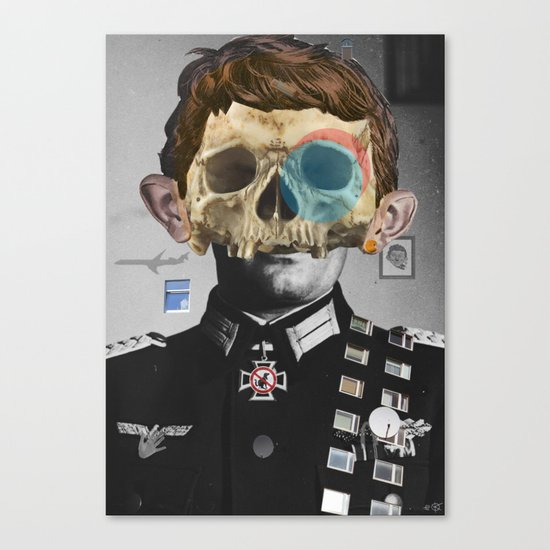 War Collage 2 Canvas Print