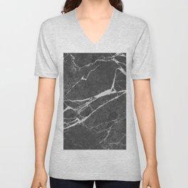 Matte Black Marble Unisex V-Neck