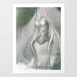 a brief stroll through a void Art Print