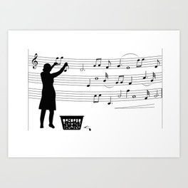 making more music Art Print