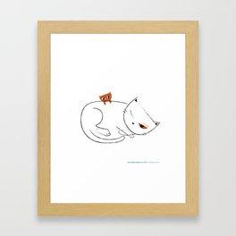 #30daysofcats 27/30 Framed Art Print
