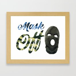 MaskOFF! Framed Art Print