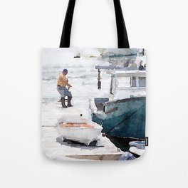 Lobster Boat Tote Bag