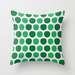Dotty Durians - Singapore Tropical Fruits Series Throw Pillow