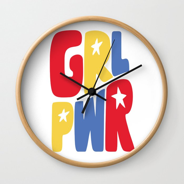 GRL PWR Star Wall Clock