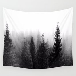 Silent Forest Dark Wall Tapestry