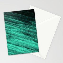 Aqua Step Waves Stationery Cards