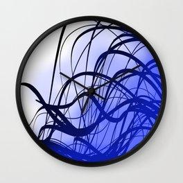 Blue Movement Wall Clock