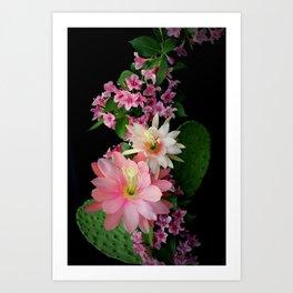 Cacti, Pink And Paler Art Print