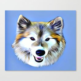 A Wolf Hybrid Canvas Print
