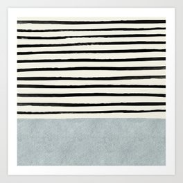 Silver x Stripes Art Print