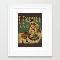 mario kart Framed Art Prints featuring Hyrule Kart by Adrian Filmore