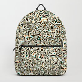 Abstract fractal gold marbleized psychedelic plasma Backpack