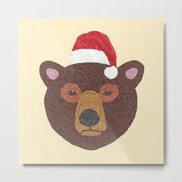 Santa Bear Metal Print