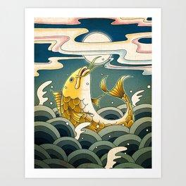Minhwa: Jumping Carp C Type Art Print