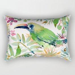 BODRICK the Emerald Toucanet Rectangular Pillow