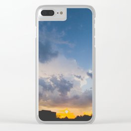 Clouded Sunset Clear iPhone Case