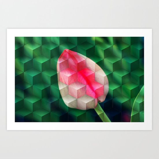 flower stairs Art Print