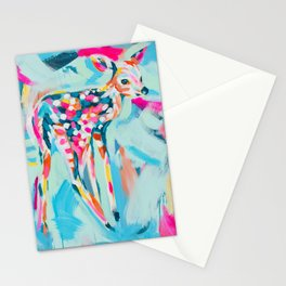 Fawn painting Stationery Cards