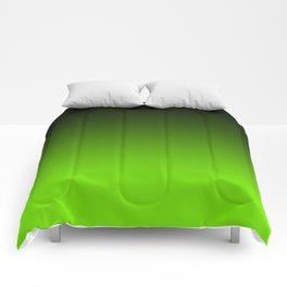 Black and Chartreuse Ombre Comforters