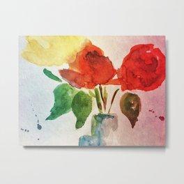 shining red flowers Metal Print