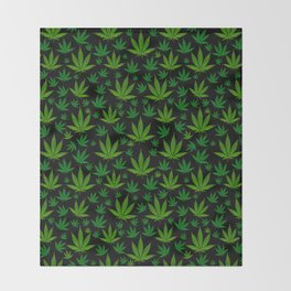 Infinite Weed Throw Blanket