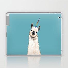 Unicorn Llama Blue Laptop & iPad Skin