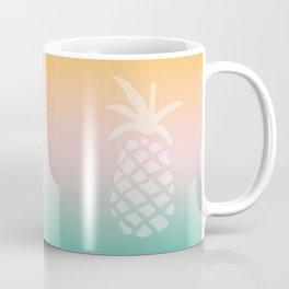 Ombre Pineapple - Tropical Pastel Coffee Mug