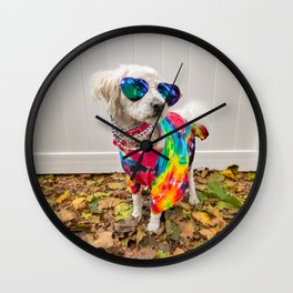 Hippie Dog Wall Clock