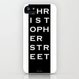 Christopher Street - NYC - Black iPhone Case