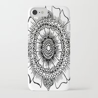 henna iPhone & iPod Cases featuring Flower henna  by Designs by NN