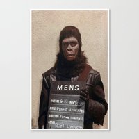 planet of the apes Canvas Prints featuring Planet of the Apes  by Rotton Cotton Candy