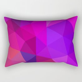Magenta Low Poly Rectangular Pillow