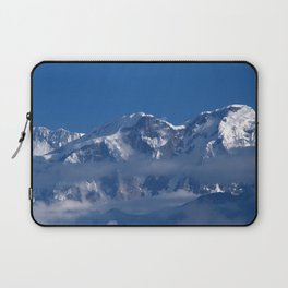 Annapurna, Himalayan Mountain Range seen from Gaunshahar - Greg Katz Laptop Sleeve