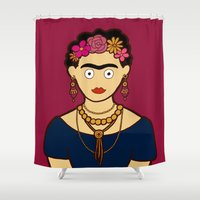 frida kahlo Shower Curtains featuring Frida Kahlo by evannave