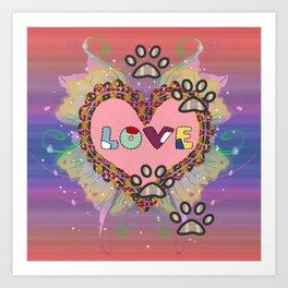 Huellas de amor Art Print