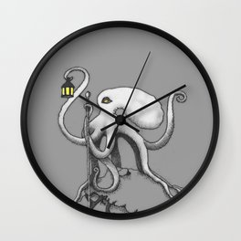 The Hermit Octopus Wall Clock
