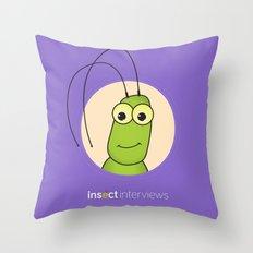 Kevin the Katydid Throw Pillow