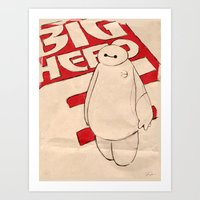 baymax Art Prints featuring Baymax by Even In Death