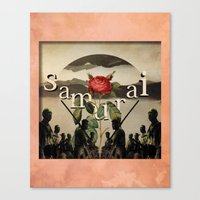 samurai champloo Canvas Prints featuring samurai by Rosa Picnic