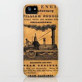 Advertisement for the Philadelphia workshops of William Norris iPhone Case