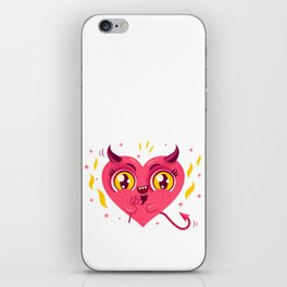 Devil heart iPhone Skin