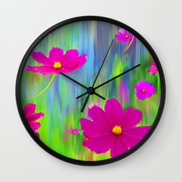 Funky Cosmos Wall Clock