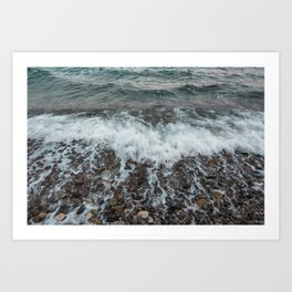 Instants at the beach Art Print